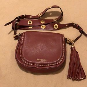 Michael Kors brown tassel purse